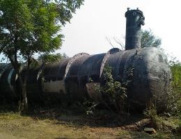 Der Tank Nummer 610, aus dem das Gas ausgetreten war, liegt noch auf dem Gelande.