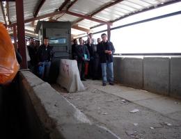 Warten am Kalandia-Checkpoint