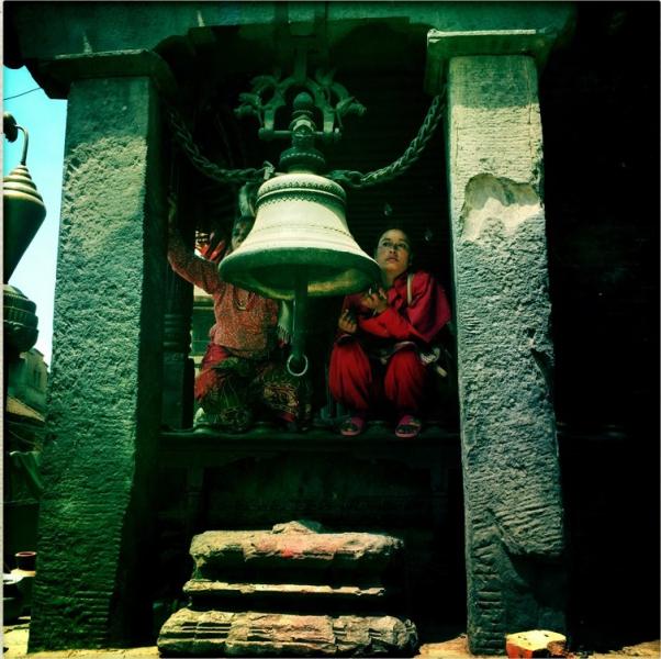 In Bhaktapur, der historischen Stadt, fielen viele Häuser zusammen