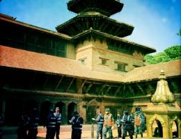 Viele Kulturgüter wurden in Patan in Kathmandu zerstört
