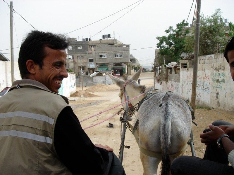 Eselkarren sind gängige Transportmittel