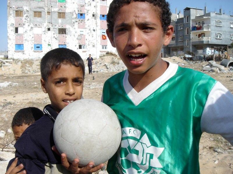 Fussballspiel in Rafah