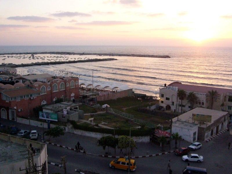Blick von einer Terrasse in Gaza Stadt