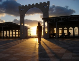 Abendstimmung im Norden des Gazastreifens