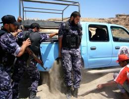 Befreiungsaktion eines Autos durch die Exekutivkräfte der Hamas
