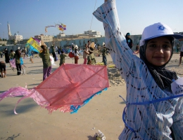 Drachenfliegen im Gazastreifen