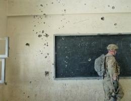Besuch einer Schule nach einem Anschlag