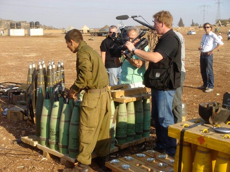 Besuch einer Artilleriestellung im Norden Israels