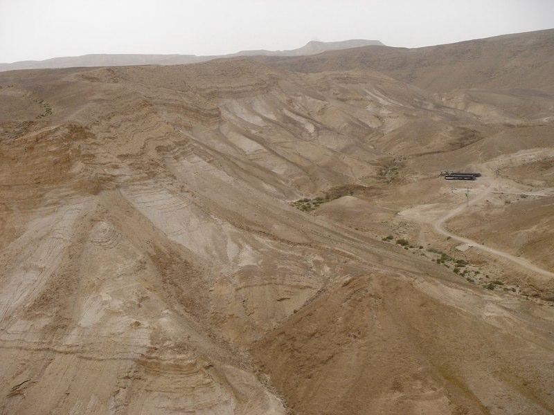 Blick über die judäische Wüste