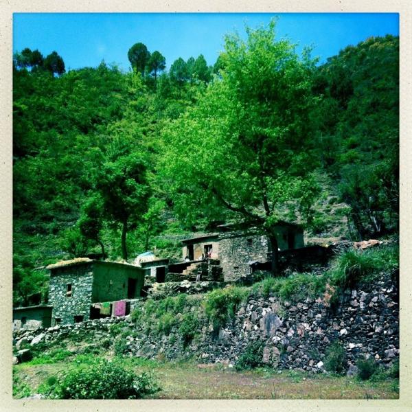 Bergdorf in Uttarakhand