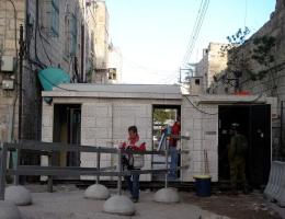 Checkpoint zur Altstadt von Hebron