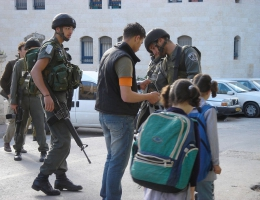 Strassenszene in Hebron